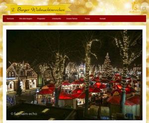 Burger Weihnachtswochen Webseite